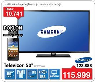 "Televizor LED 50"" UE50F5000 Poklon Samsung i8530 Galaxy Beam"