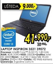 Laptop Inspiron 3521 39072