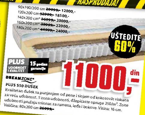Dušek, Plus S50 180x200 cm