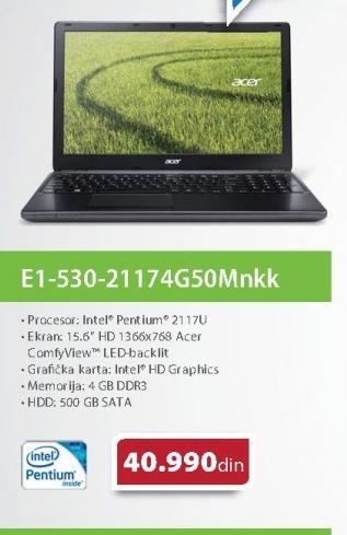 Laptop  Aspire AS E1-530G-21174G50Mnkk