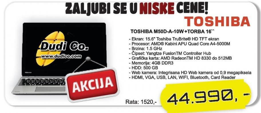 """Laptop Satellite M50d-A-10w + Poklon 16"""" Torba"""