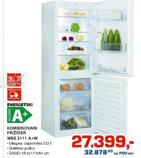Kombinovani Frižider Wbe 3111 A+W