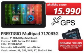 Tablet Multipad 7170B3G  + poklon kartica 4GB Samsung
