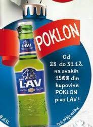Poklon pivo lav