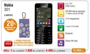 Mobilni Telefon Nokia 301