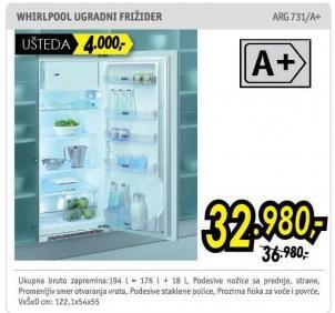 Ugradni frižider Arg 731/A+