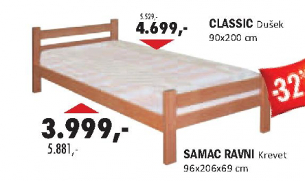 Krevet SAMAC RAVNI