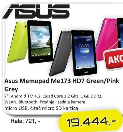 Tablet MemoPad Me173 Hd7 Green/Pink/Grey