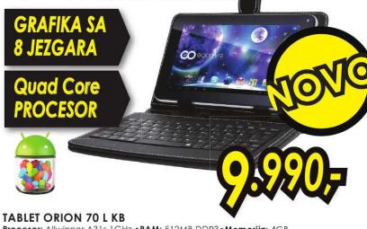 Tablet  ORION 70 L KB