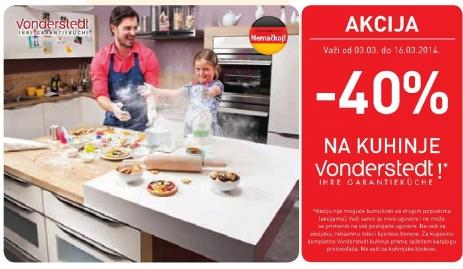 Akcija na kuhinje Vonderstedt