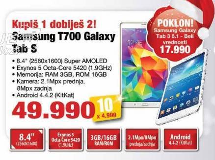 Tablet T700 Galaxy Tab S
