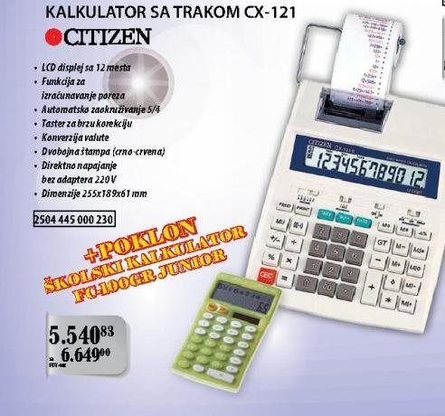 Kalkulator sa trakom Cx-121