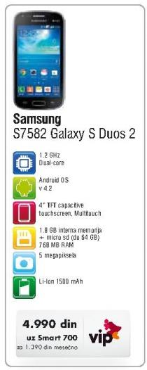 Mobilni telefon S7582 Galaxy S Duo