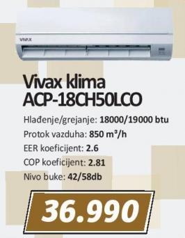 Klima uređaj Acp-18ch50lco