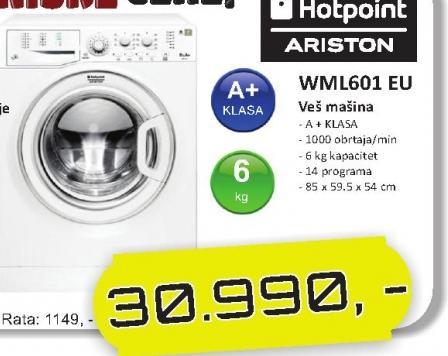 Mašina Za Pranje I Sušenje Veša WML601 EU