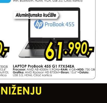 Konfiguracija ProBook 455 F7X54EA
