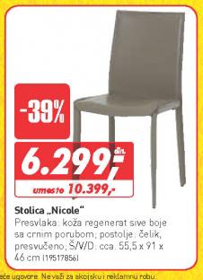 Trpezarijska stolica Nicole