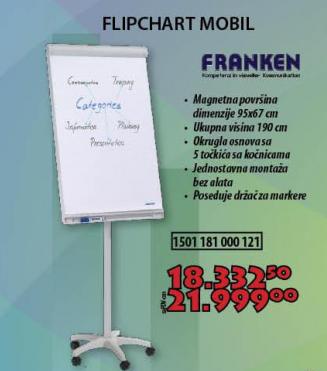 FLIPCHART MOBIL, Franken