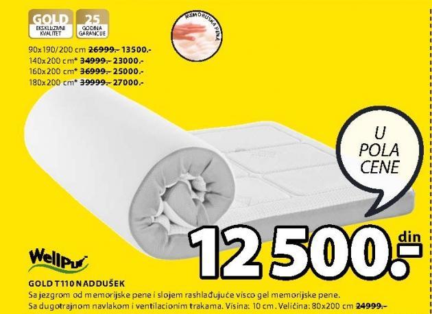 Naddušek Gold T110 160x200cm