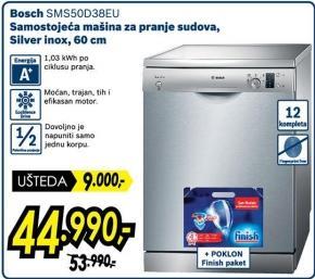 Samostojeća mašina za pranje sudova Sms50d38eu