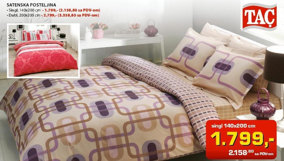 Satenska posteljina Singl Tac