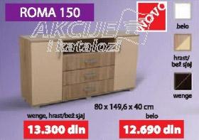 Komoda ROMA 150 hrast, wenge