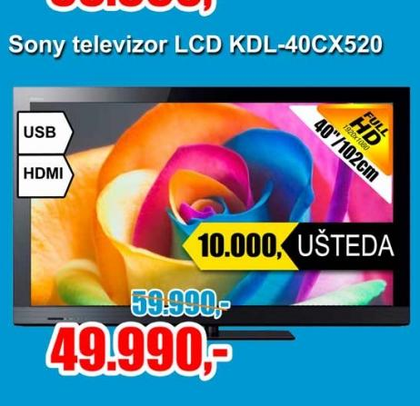 Televizor LCD KDL-40CX520