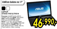 Laptop X75VD-TY013/014