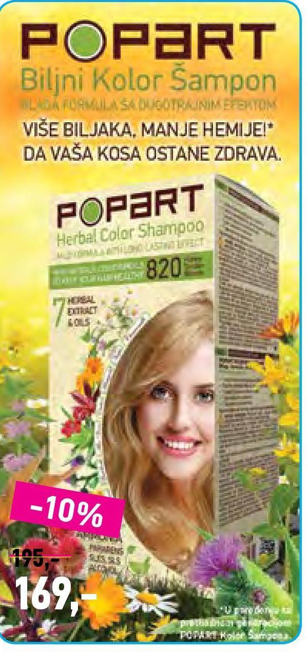 Kolor šampon Popart Herbal color
