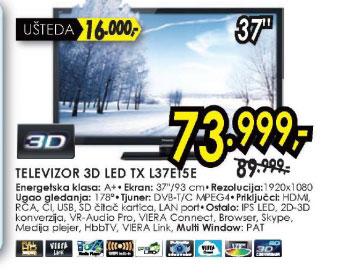 3D televizor LED LCD TX-L37ET5E
