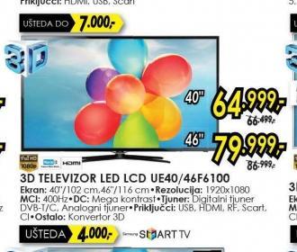 Televizor LED LCD UE-40F6100