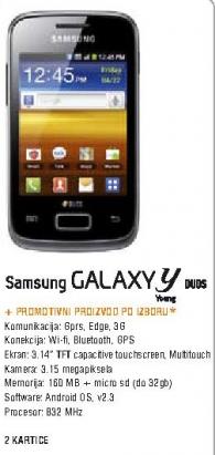 Mobilni telefon Galaxy Y Dual SIM