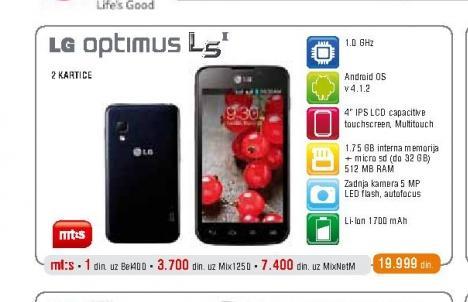 Mobilni telefon Optimus L5 II Dual E455
