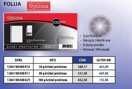 Folija 50 mikrona Optima