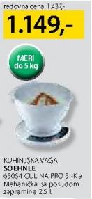 Kuhinjska vaga 65054 CULINA PRO 5-Ka