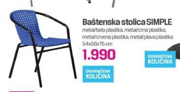 Baštenska stolica Simple