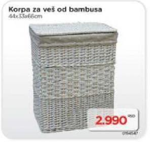 Korpa Za Veš od bambusa