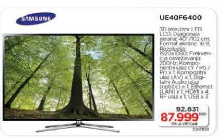3D LED LCD UE40F6400