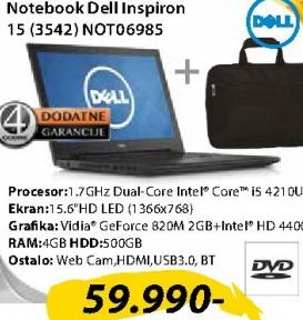 Laptop Inspiron 15 (3542) NOT06985