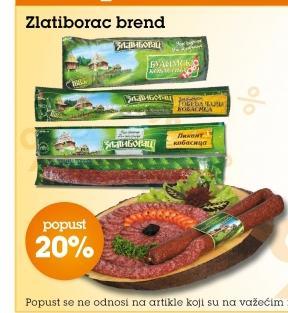 20% popusta na Zlatiborac proizvode