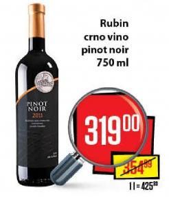 Crno vino Pinot Noir