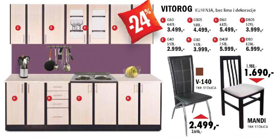 Kuhinjski element Vitorog G60