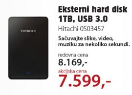 Eksterni hard disk 1TB, 0S03457