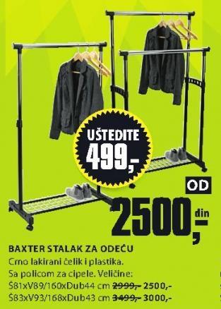 Stalak za odeću Baxter 81x89/160x44