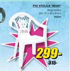 PVC STOLICA BEAR