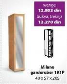 Garderober Milano 1K1P Wenge