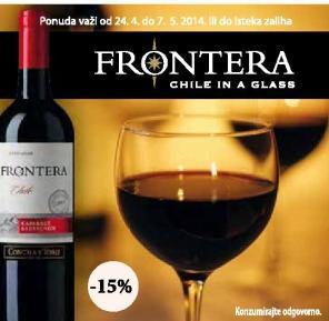 Crno vino Cabernet Frontera