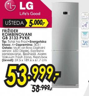 Frižider kombinovani GB-3133PVKK