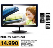 "Monitor 23.6"", 247E3LSU/00 LED"