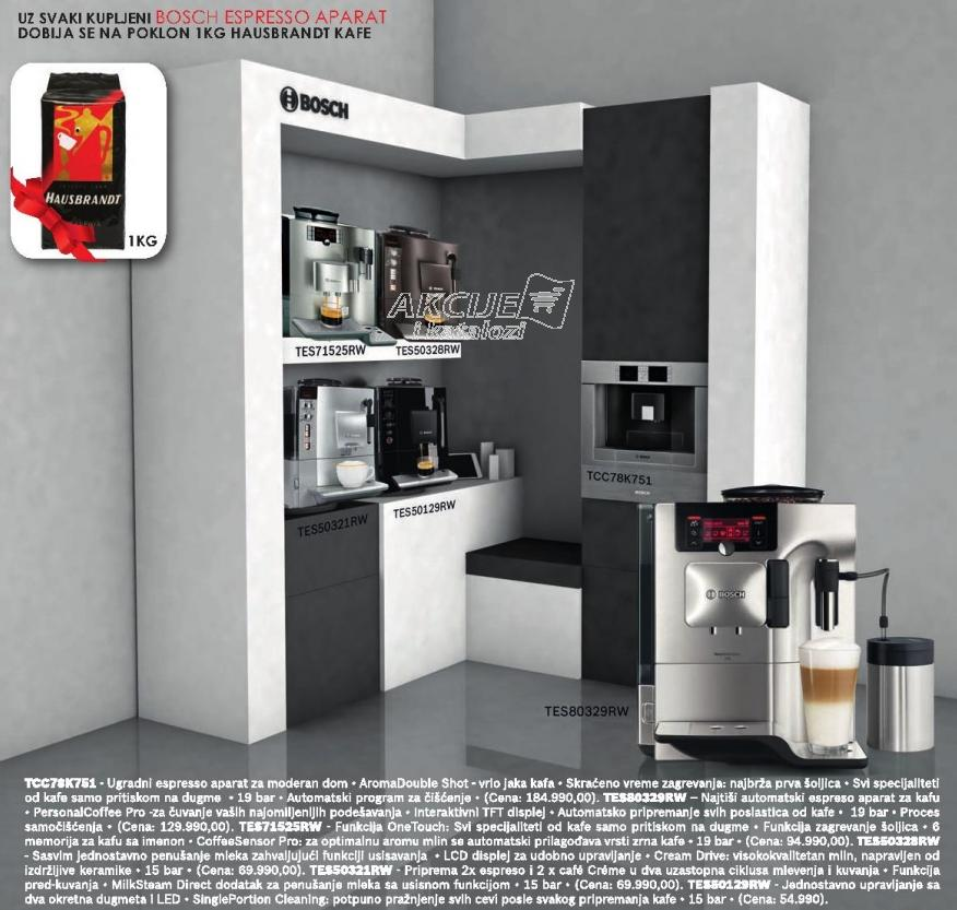Aparat za espresso Tes71525rw + Poklon 1kg Hausbrandt kafe